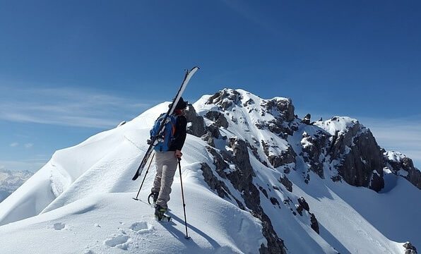 Skitour im Gebirge