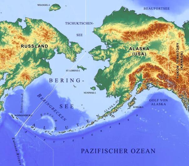 Karte der Beringsee
