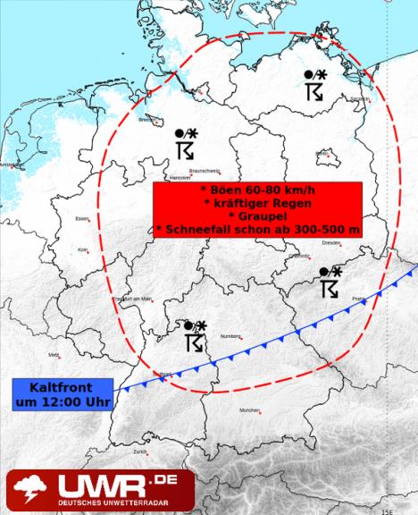 Am Montag kann es vor allem im Norden und Osten gewittern.