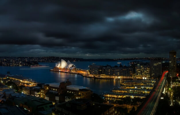 Sydney am Abend