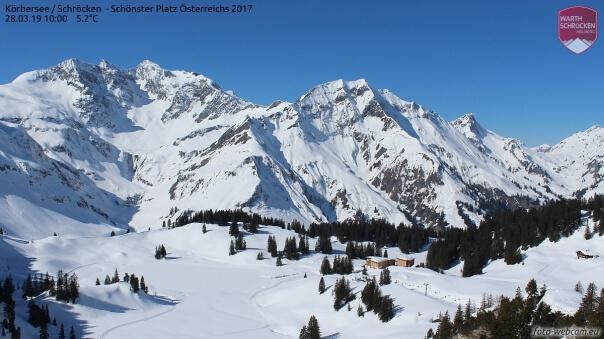 In den Alpen liegt noch viel Schnee