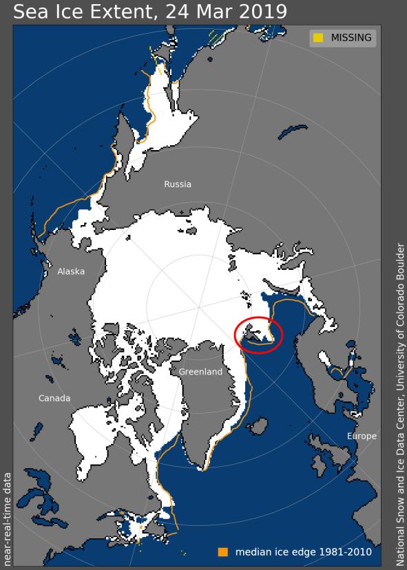 Besonders im Westen von Spitzbergen gibt es kein Meereis