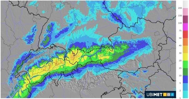 In den Nordalpen gibt es 15 bis 30 cm Neuschnee