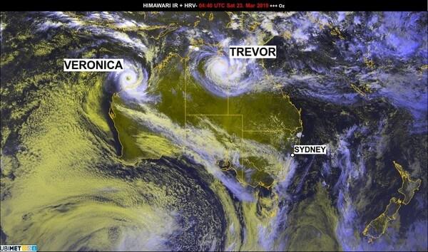 Zwei Zyklone bedrohen Australien.