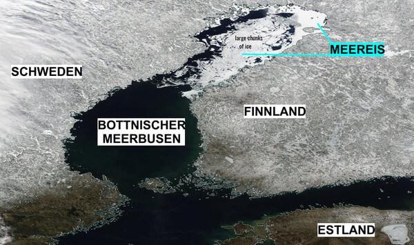 Eis auf der nördlichen Ostsee.
