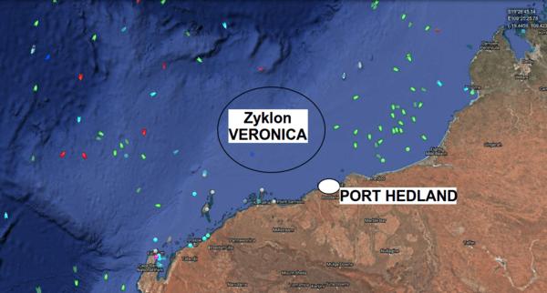 Schiffsverkehr vor Australien.