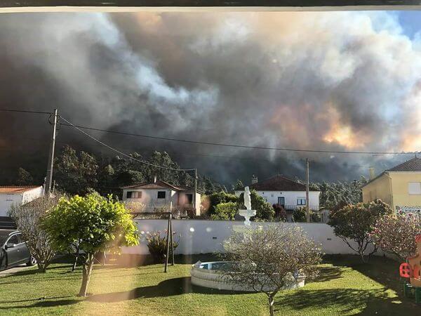 Waldbrand in Portugal nahe Braga