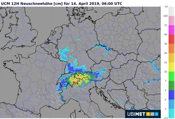 Besonders im nördlichen Schwarzwald kommt etwas Neuschnee zusammen