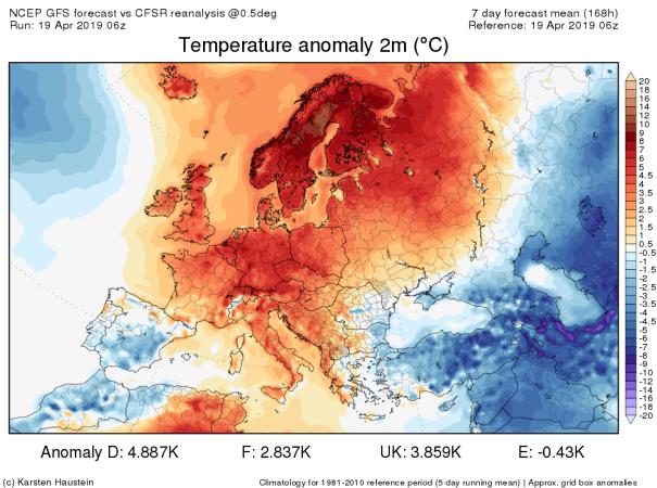 Es ist zu warm in weiten Teilen Europas