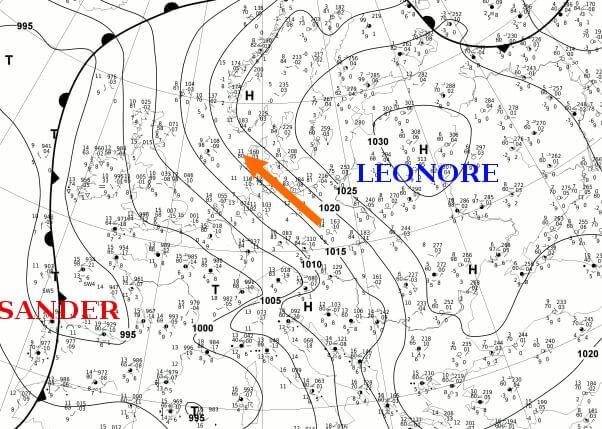 Die Bodenwetterkarte am Dienstag
