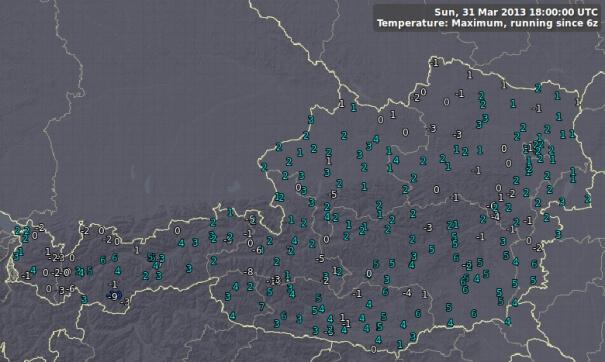 In Wien gab es nur 2 Grad