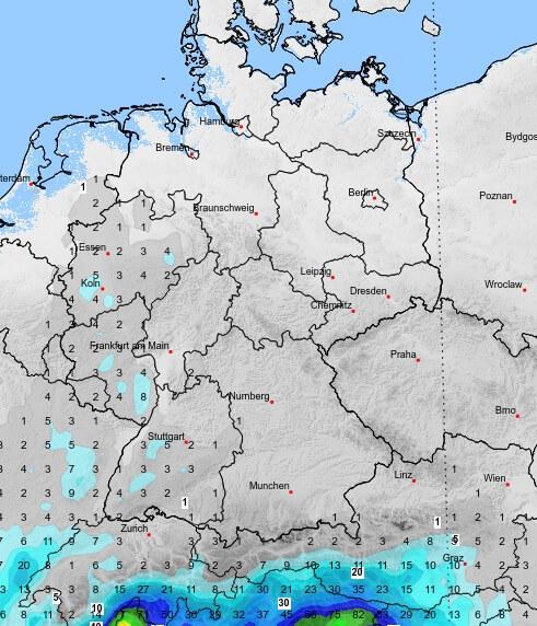 Im Osten ist in den nächsten Tagen nahezu kein Regen in Sicht