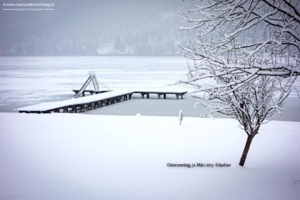 Schnee am Erlaufsee