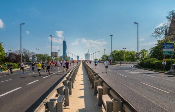 Sonnenschein beim Wien-Marathon