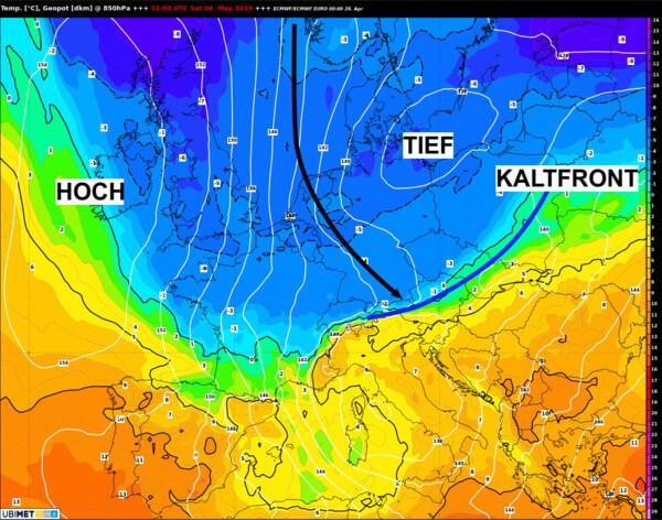 Kalte Luft erreicht uns am Samstag aus Norden.