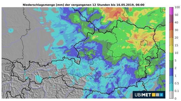 12-Stunden-Regenmengen bis Donnerstagmorgen