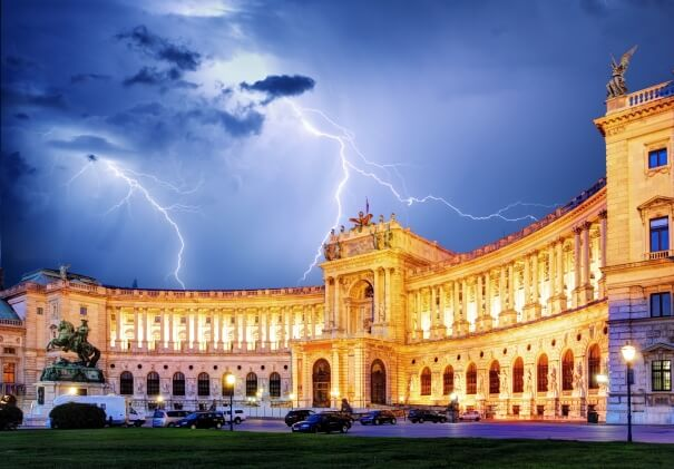 Blitz in Wien