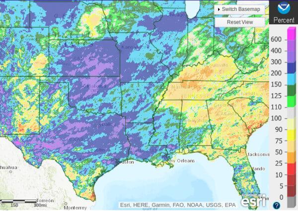 Im Mittleren Westen war es seit Ende April viel zu nass.