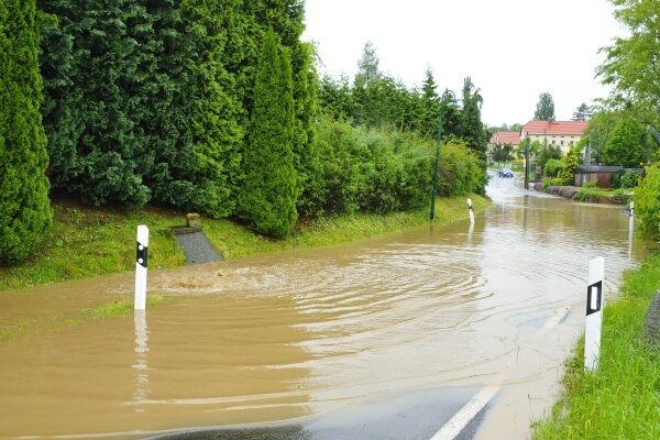 Stellenweise kommt es zu Überflutungen