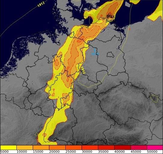 Die Regionen mit den besten Bedingungen für Gewitter am Montagnachmittag. © @ ECMWF / UBIMET