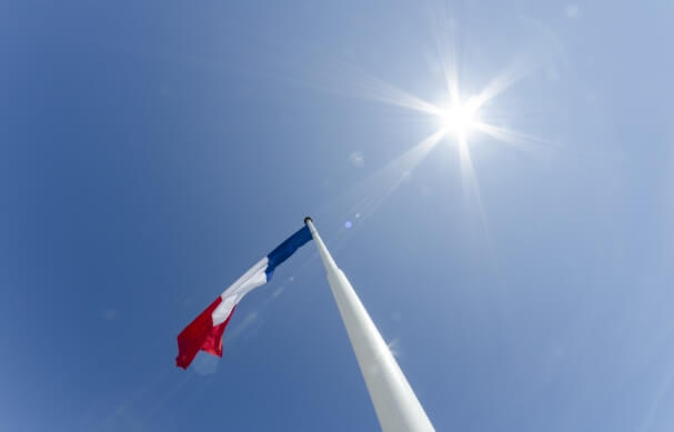 Sonne in Frankreich