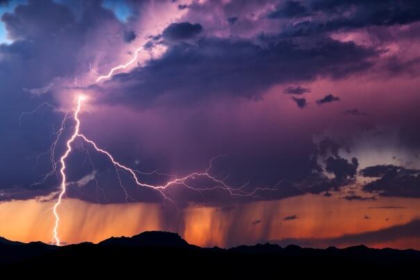 Blitz und Gewitter