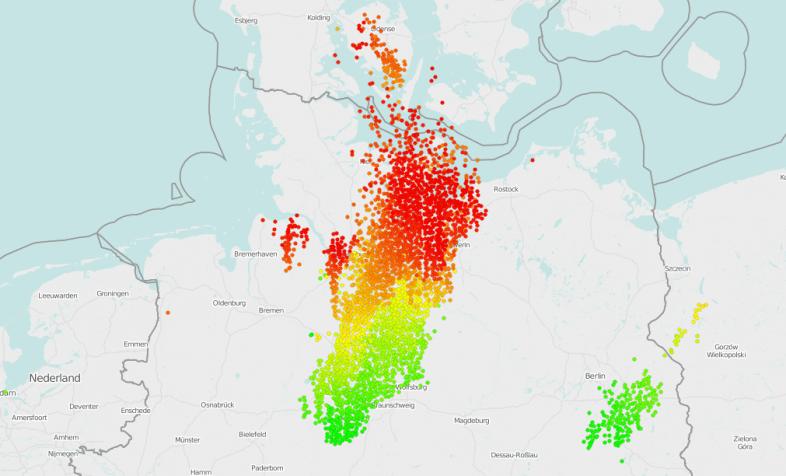 140.000 Blitze in den vergangenen 6 Stunden