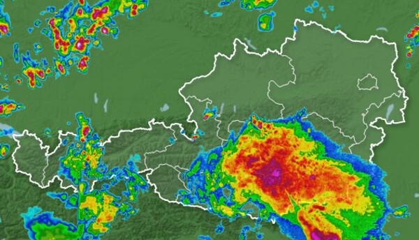 Radarbild von 14:30 Uhr @ http://www.wetter.tv