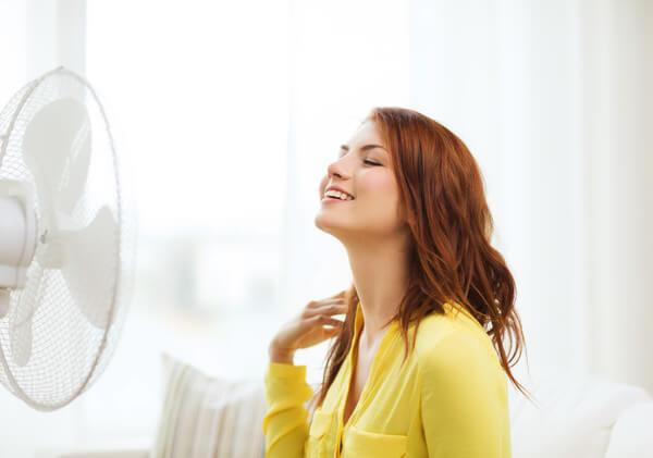Ventilatoren schaffen bei der Hitze Linderung.