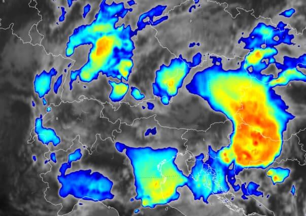 Aktuelles IR-Satellitenbild. © EUMETSAT / UBIMET
