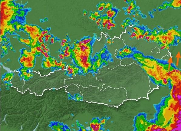 Aktuelles Radarbild. © wetter.tv