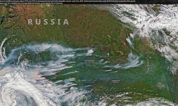 Auch in Sibirien brennt es derzeit vielerorts.