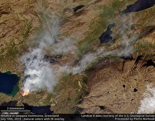 Satellitenbild des Brandes.