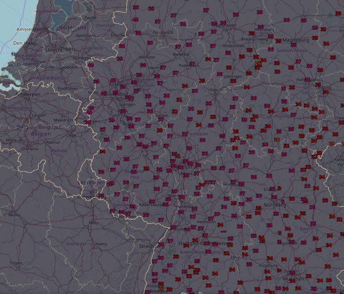 Vor allem im Westen des Landes rücken die 40 Grad in Reichweite.