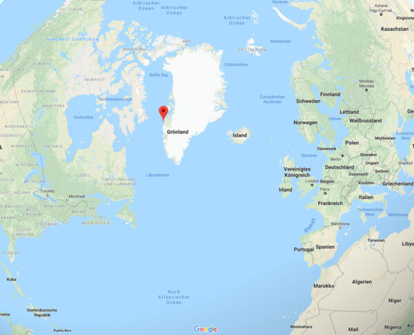 Karte von Grönland.