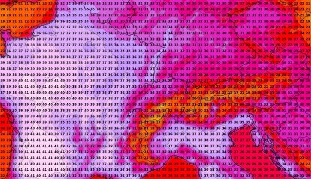 Prognostizierte Höchstwerte am Dienstag von ICON. © DWD / UBIMET