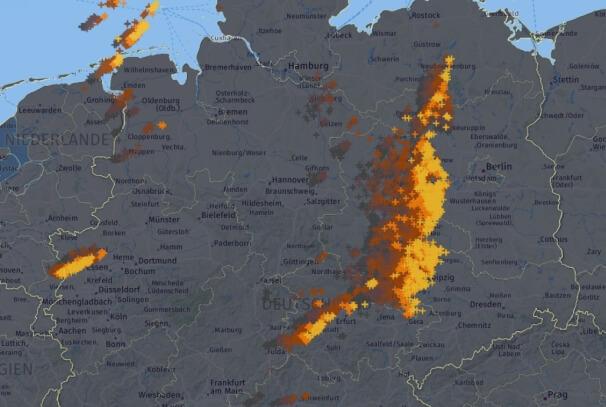 Blitze der letzten Stunde. © UBIMET