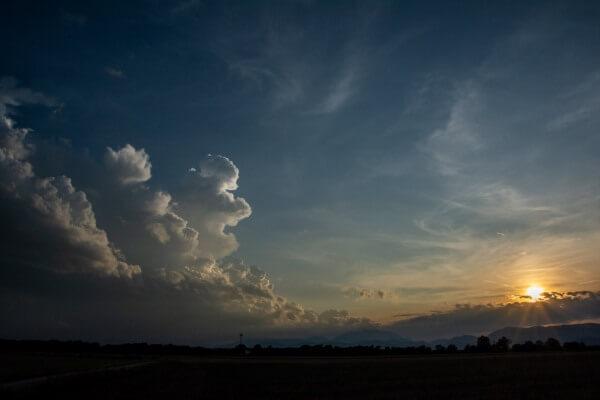 Sonnenuntergang Wr. Neustadt