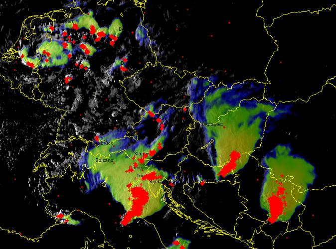 Satellitenbild mit Blitzen vom Abend des 02.08.2019 @ UBIMET