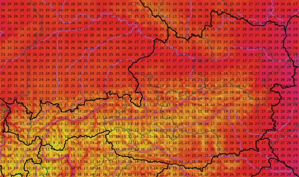 Bereits am Freitag liegen die Höchstwerte knapp unter der 30 -Grad-Marke.