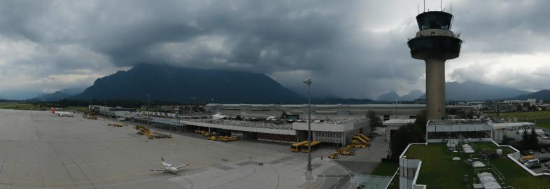 Webcambild vom Salzburger Flughafen @ https://livecam.salzburg-airport.com/