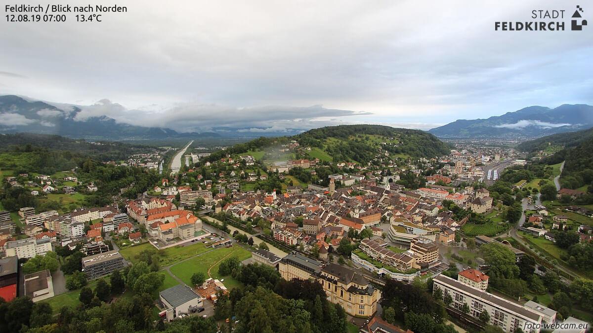 Feldkirch zwischen Regen und Gewittern - foto-webcam.eu