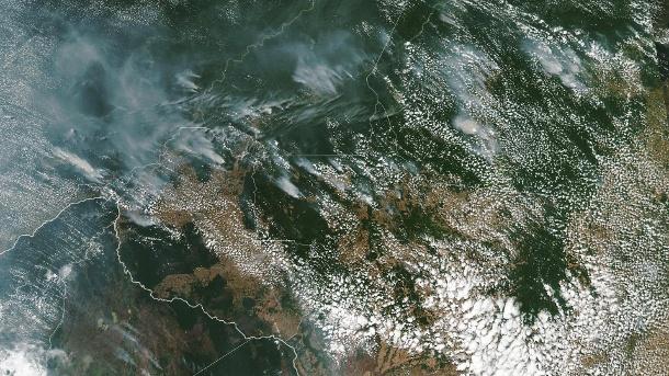 Satellitenbild der Waldbrände ©NASA