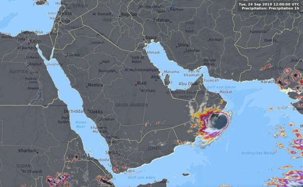 Satellitenbild von Dienstag, 13 Uhr @ UBIMET