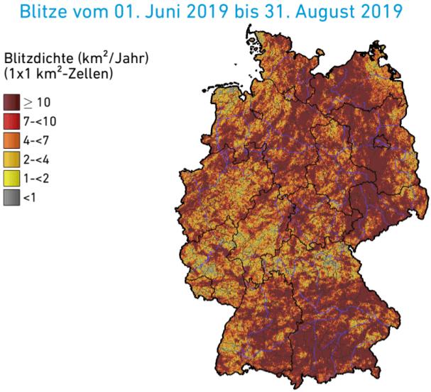 Blitzdichte in Deutschland