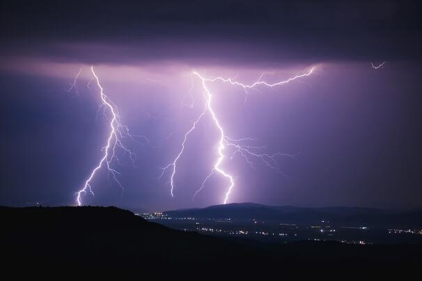 Unwetter mit Blitz