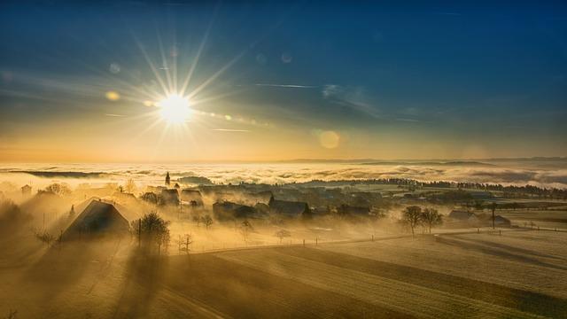Nebel ist typisch für den Herbst.