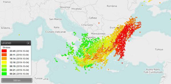 Kräftige Gewitter in Griechenland