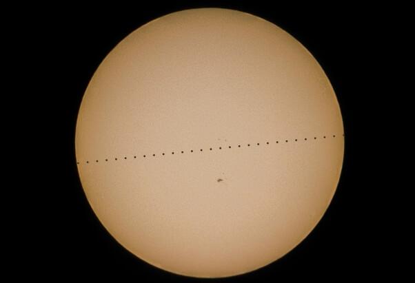 Ein Vorübergang des Merkur vor der Sonne