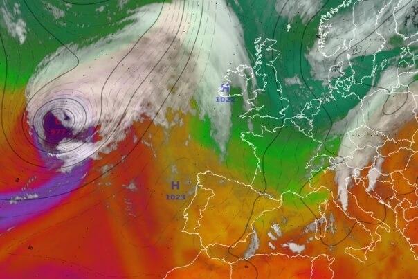 Ex-Hurrikan Lorenzo erreicht am Wochenende Mitteleuropa